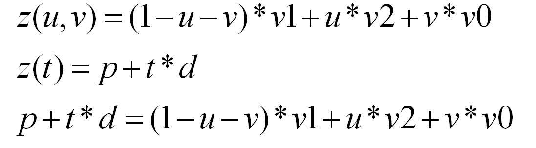 Уравение, из которых можно вывест барицентрический тест